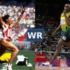 Women's World Records Compared Against Men's World Records in Track & Field