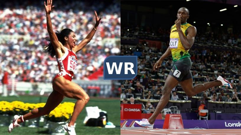 Women's World Records Compared Against Men's World Records