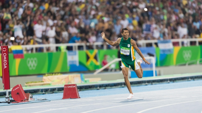Rio 2016 OG, Athletics, 400m Men - Final, Wayde van NIEKERK (RSA) 1st.