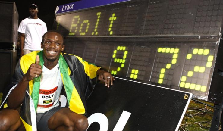 usain Bolt world record 9.72