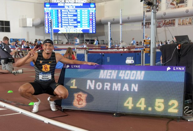Michael Norman 400m Indoor WR