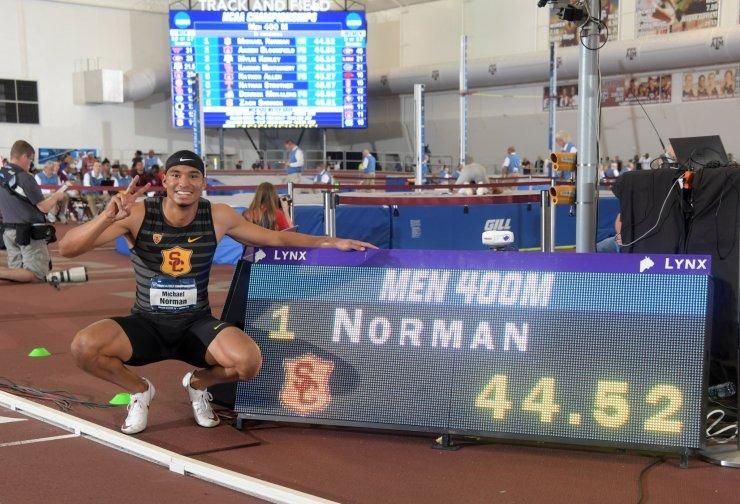 Michael Norman 400m Indoor WR