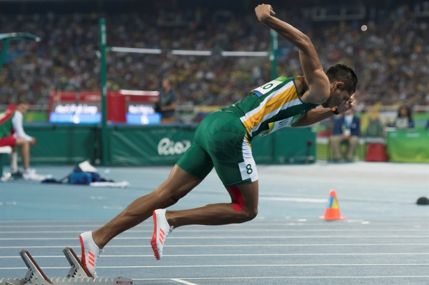 Wayde van Niekerk 400m start